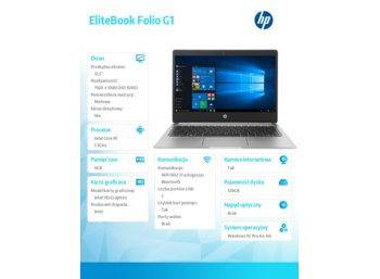 HP Inc. EliteBook Folio G1 m5-6Y54 W10 128/8GB/12,5'    V1C64EA