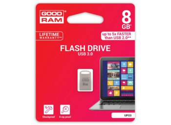GOODRAM POINT SILVER  8GB USB3.0