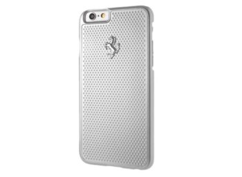 Ferrari Hardcase FEPEHCP6RE iPhone 6/6S perforated aluminium srebrny