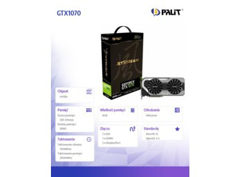 Palit GTX1070 JetStream 8GB DDR5 256BIT DVI/3DP