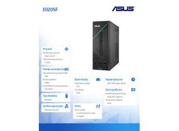 Asus D320SF-I361000204 Win10PRO i3-6100/4/1TB/Integra/DVD