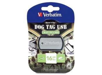 Verbatim Dog Tag USB Drive 16GB