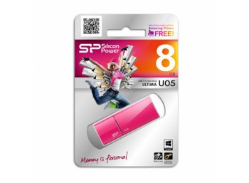 Silicon Power ULTIMA U05 8GB USB 2.0 Sweet Pink