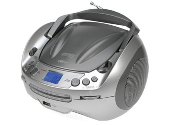 Camry Radio z odtwarzaczem CD /MP3 (boombox)szary CR1123G