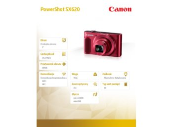 Canon PowerShot SX620 HS RED 1073C002AA