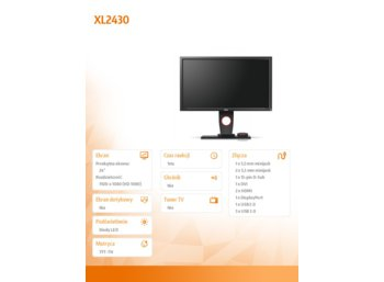 ZOWIE 24'' XL2430 LED 1ms/12MLN:1/HDMI/GAMING