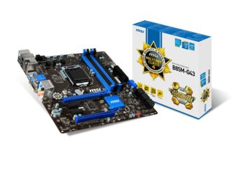 MSI B85M-G43 s1150 B85 4DDR3 USB3/GLAN/HD-audio uATX