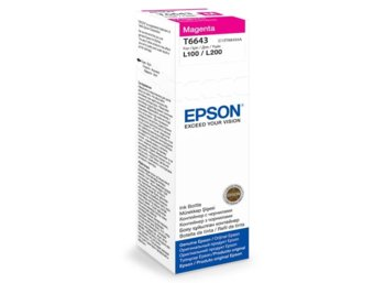 Epson Tusz T6643 MAGENTA  70ml butelka do L100/110/200/210/300/355/550