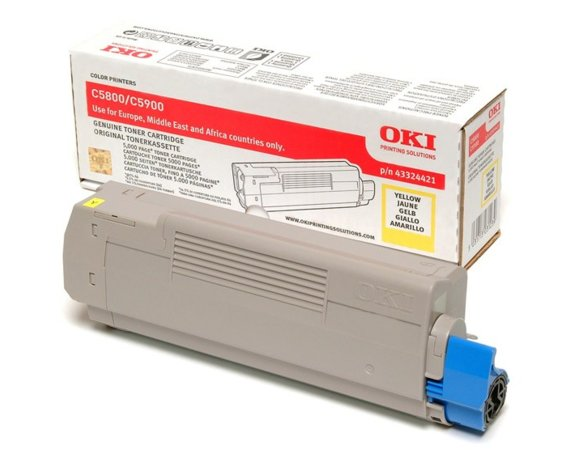 OKI Toner C5800/5900    Yellow (5k)