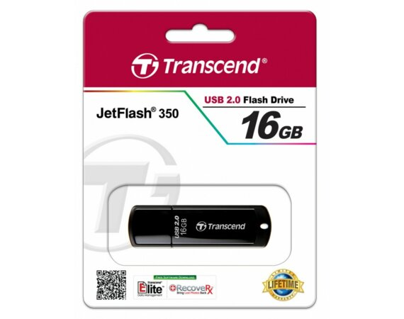 Transcend JETFLASH 350 16GB USB2.0 BLACK