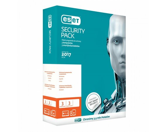 ESET Security Pack 3PC + 3smartfony Kontynuacja 3Y