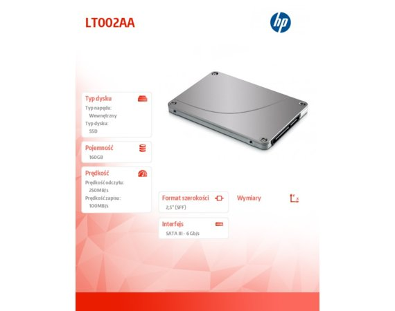 HP Inc. 160GB Solid State HDD     LT002AA