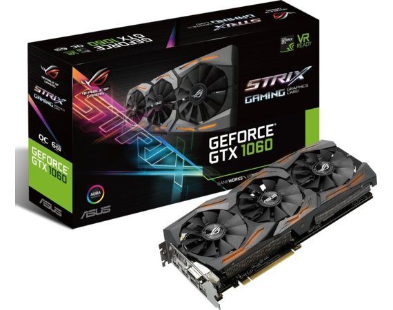 Asus Karta graficzna GeForce GTX 1060 6GB GDDR5 192BIT DVI/2HDMI/2DP