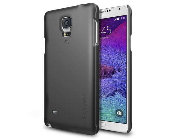 SPIGEN SGP  Etui Thin Fit Black Samsung Note 4