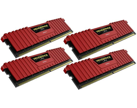 Corsair DDR4 Vengeance LPX 16GB /2800 (4*4GB) RED CL16-18-18-36