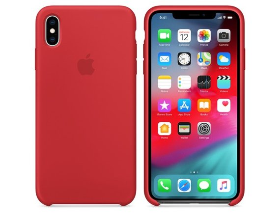 Apple Etui silikonowe iPhone XS Max (PRODUCT)RED