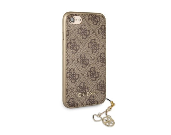 GUESS Etui hardcase GUHCPXGF4GBR iPhone X brązowy 4G Charms Collection