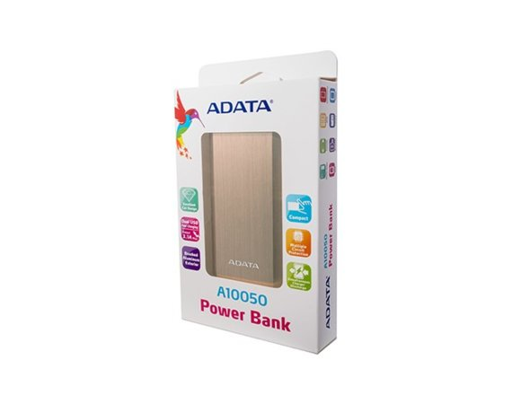 Adata Power Bank AA10050 10050 mAh Złoty 2.1A
