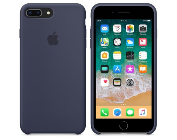 Apple iPhone 8 Plus / 7 Plus Silicone Case - Midnight Blue