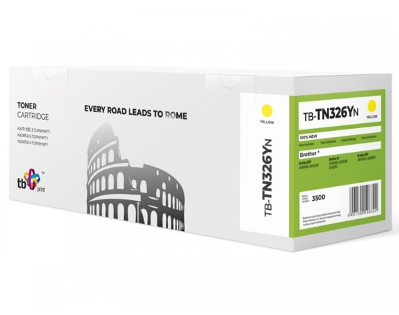 TB Print Toner do Brother TN326Y YE 100% nowy TB-TN326YN