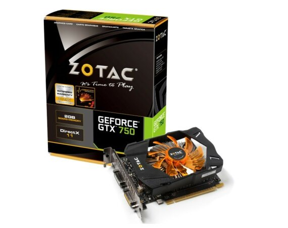 ZOTAC GeForce CUDA GTX750 2GB   DDR5 PCI-E 128BIT 2DVI/mHDMI  MP