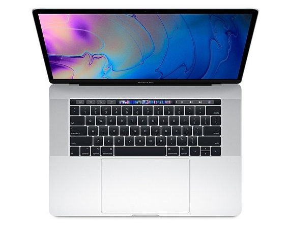 Apple Laptop MacBook Pro 15 Touch Bar, i7 2.6GHz 6-core/16GB/512GB SSD/Radeon Pro 560X 4GB - Silver