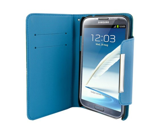 4world ETUI DO GALAXY NOTE 2 5.5'', STYLE ZIELONE