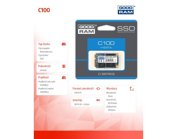 GOODRAM C100 240GB mSATA3