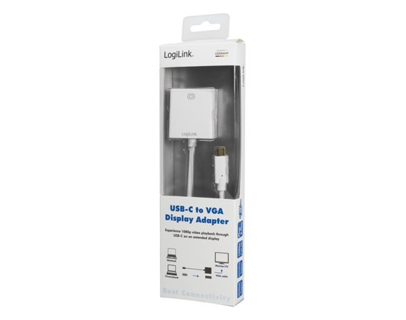 LogiLink Adapter USB-C 3.1 do VGA 1080p,Mac OSX, Chrome OS