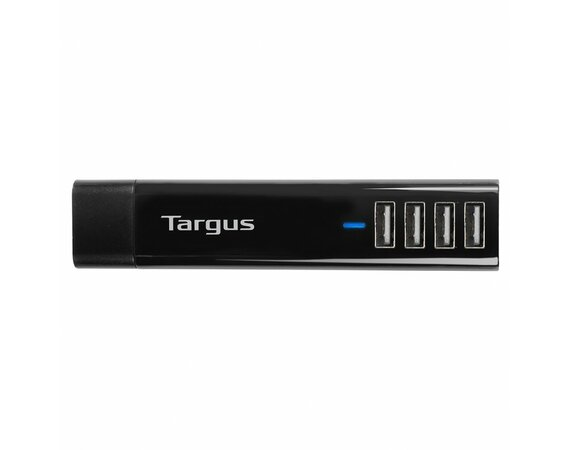 Targus 4-Way USB Fast Charger - Black/4.8A/USB-A