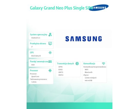 Samsung GALAXY Grand Neo PLUS SINGLE SIM WHITE