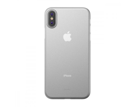 Benks Etui Lollipop iPhone XS MAX transparentne białe