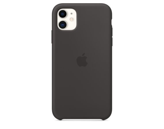Apple Silikonowe etui do iPhone 11 - czarne