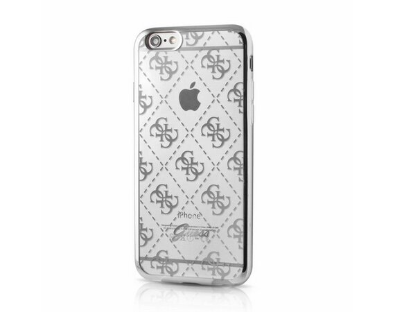 GUESS Hardcase GUHCP6TR4GSI iPhone 6/6S silver 4G transparent