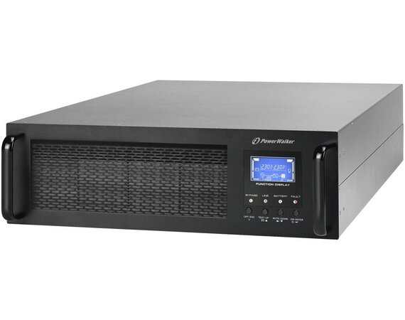 PowerWalker UPS ON-LINE 6000VA 1X IEC OUT + TERMINAL, USB/RS-232, LCD, RACK 19''