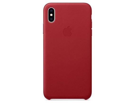 Apple Etui skórzane iPhone XS Max - (PRODUCT)RED