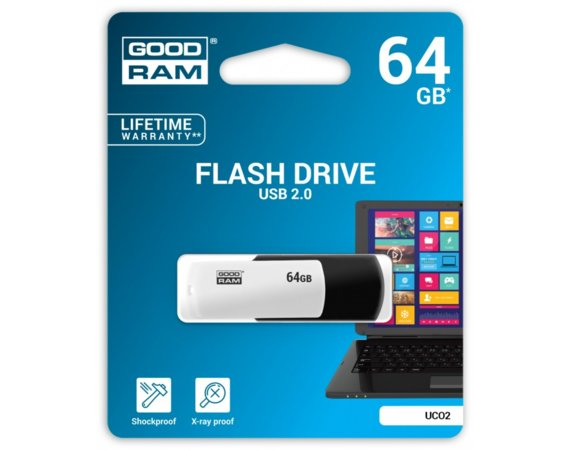 GOODRAM COLOUR BLACK&WHITE 64GB USB2.0