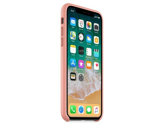 Apple iPhone X Leather Case - Soft Pink