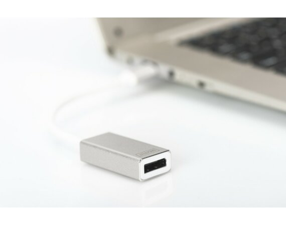 Digitus Adapter graficzny DisplayPort 4K 30Hz na USB Typ C, aluminowa obudowa