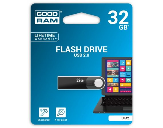 GOODRAM URA2 32GB USB2.0 Black