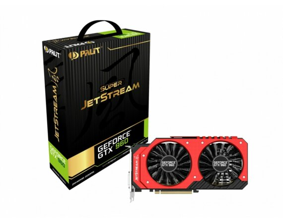 Palit GeForce CUDA GTX960 SUPER JS 2GB DDR5 128BIT 2DV/HD/DP BOX