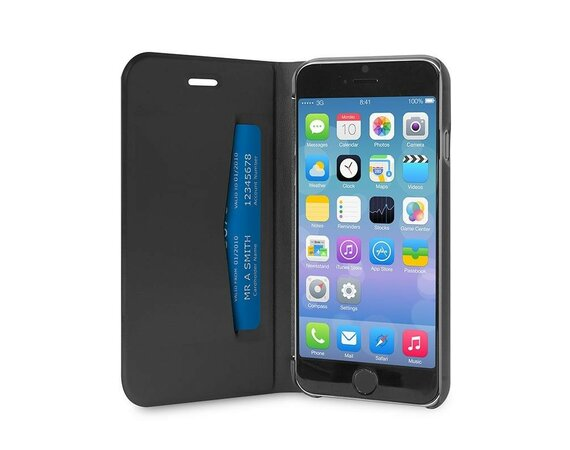 PURO Booklet Wallet Case with stand up iPhone 6/6s black