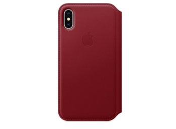 Apple iPhone X Leather Folio - (PRODUCT) RED