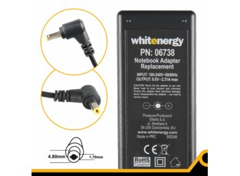 Whitenergy Zasilacz 9.5V | 2.31A 22W wtyk 4.8x1.7 mm Asus EEE PC 701  06738