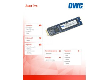 OWC Aura Pro SSD 240GB Macbook Air 2010/2011 (285-500MB/s, 50k IOPS) SYNC NAND