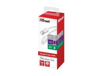Trust Lightning Cable 1m - white