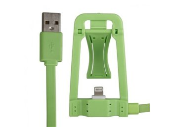 Global Technology KABEL USB z dokowaniem iPhone 6/6s/5/5s zielone