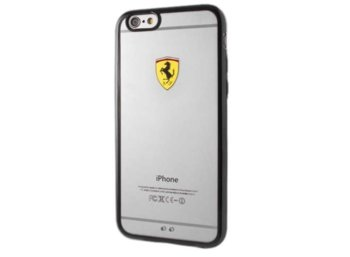 Ferrari Hardcase FEHCP6BK iPhone 6/6S racing shield transparent black