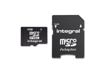Integral KARTA FLASH MICROSDHC 4GB Z ADAPTEREM
