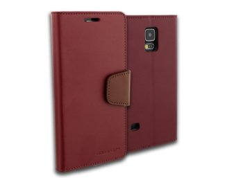 Mercury Etui SONATA Galaxy S6 Edge bordo/brąz, notes